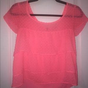 AMERICAN EAGLE Pink dotted blouse!